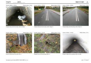Przegląd okresowy drogi - uszkodzenia nawierzchni